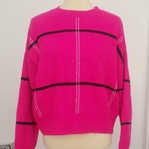 Cozy Pink Graphic Boyfriend Sweater